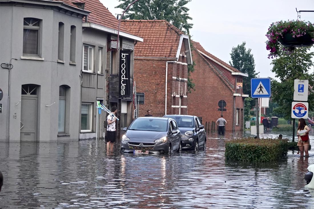 Wateroverlast juni 2019 erkend als ramp in Kalmthout.