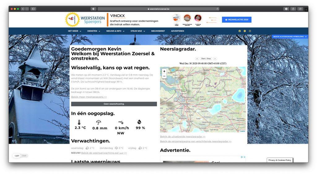 Nieuwe website anno 2020